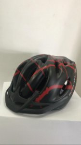 Capacete de Ciclismo WINNER BM Preto/Vermelho com Apoio