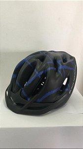 Capacete de Ciclismo WINNER BM Preto/Azul com Apoio