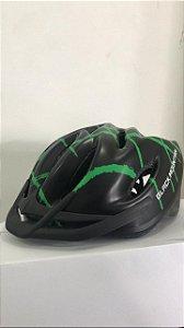 Capacete de Ciclismo WINNER BM Preto/Verde com Apoio
