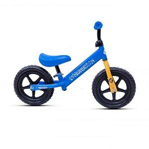 Bicicleta RAVA Balance Infantil Aro 12 Azul/Amarelo