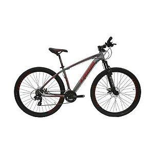 Bicicleta LOTUS Mec Aro 29 21V Cinza/Vermelho - Tam. 17,5
