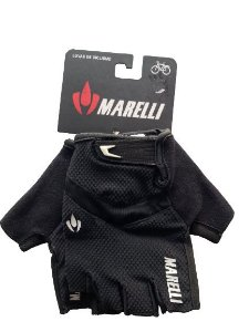 Luva MARELLI Recorte c/ Velcro Preto - Tam. M