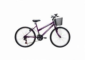 Bicicleta CAIRU Bella Aro 24 Violeta c/ Cesta