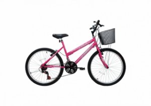 Bicicleta CAIRU Bella Aro 24 Rosa/Pink c/ Cesta