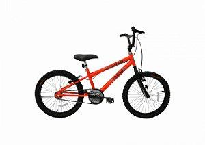 Bicicleta CAIRU Cross Flash Boy Aro 20 Laranja Neon