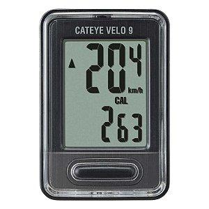 Velocimetro Digital CATEYE 9F Velo 9 Preto VL820