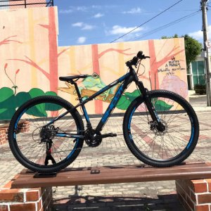 Bicicleta SHOOT RAGE Aro 29 21v Preto/Azul - Tam. 15