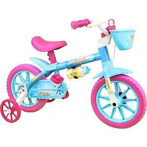 Bicicleta NATHOR Aqua 2 Feminina Aro 12 Azul Bebê/Rosa