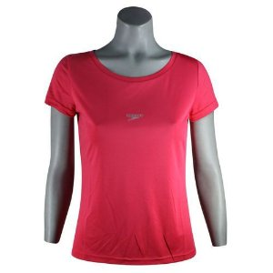 Camisa Feminina SPEEDO Interlock UV50 Coral - TAM. GG