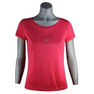 Camisa Feminina SPEEDO Interlock UV50 Coral - TAM. G