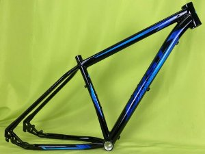 Quadro MTB FIRST Smitt Alumínio Preto/Azul brilho Tam. 17.5
