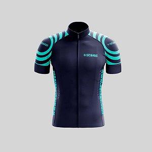 Camisa Ciclismo SOLIFES Azul c/ Azul -Tam. M