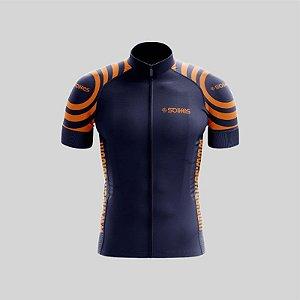 Camisa Ciclismo SOLIFES Azul c/ Laranja -Tam. M