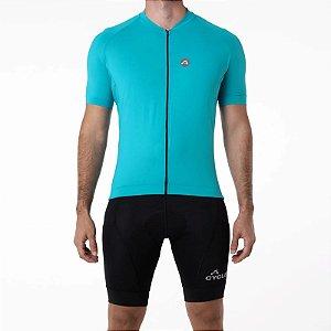 Camisa CYCLE Masculina ColorBlock Azul Claro Tam. M