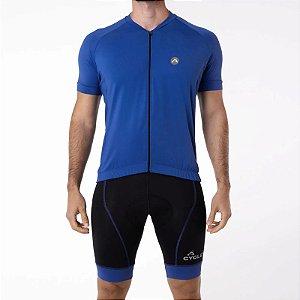 Camisa CYCLE Masculina ColorBlock Azul Royal Tam. P