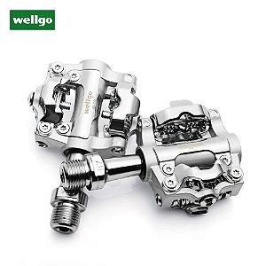 Pedal WELLGO MTB M-19 Alumínio c/ Rolamento de Aço s/Clipe