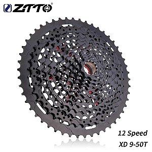 Cassete ZTTO 12v 9-50T XD MTB Leve Preto
