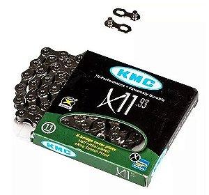 Corrente Kmc X11 Prata 11v 116 Link - acompanha link de emenda