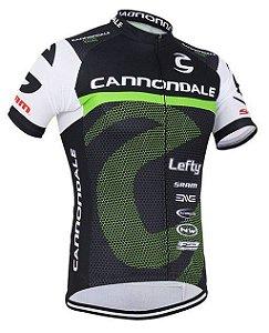 Camisa de Ciclismo Cannondale Verde / Preto/ Branco - TAM. G