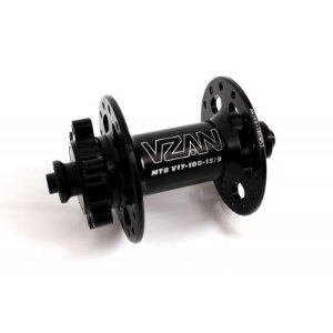 Cubo dianteiro VZAN  100-15/9  V17 c/rolamento  -  28 furos - MTB