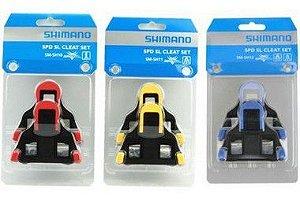 Clipe taquinho Shimano SM-SH10/11/12 p/ciclismo - vermelho