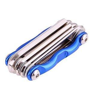 Ferramenta  7 em 1 portátil Multi-Kit Azul  - Reparação conjunto chave sextavada/Fenda