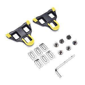 Clip taquinho p/ speed amarelo - conjunto para Shimano SM-SH11 SPD-SL