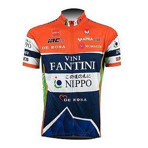 Camisa de jersey Vici Fantini Laranja/Azul - Tam. XL