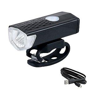 Farol Lanterna frente LED - USB Recarregável