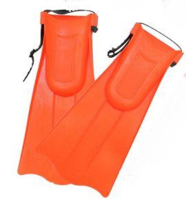 Pé de Pato - Nadadeiras Curtas de Treinamento de Natação - Laranja - Tam. P