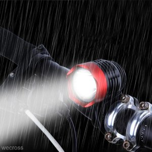 Farol Lanterna Led Branca T6 USB Impermeável - Vermelha