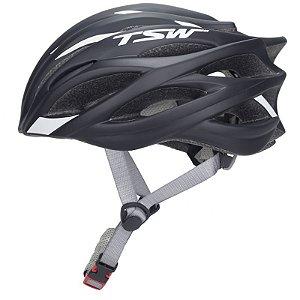 1f4c869cc Capacete de Ciclismo TSW Speed Team Preto  Branco- Tam. M - 7731