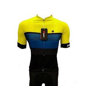 Camisa Jersey MARELLI Europa Faixas Amarelo - Tam. M