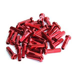 Niples de Alumínio Vermelho TG 2.0 x 14mm