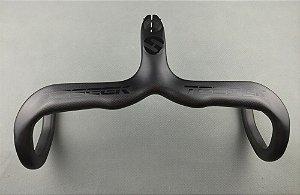 Guidão TOSEEK carbon Road Drop Haste Barra Integrado 28.6 420*90mm