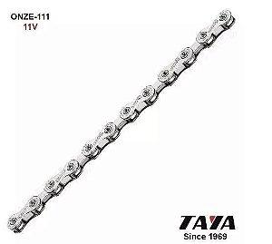 Corrente TAYA Onze 111 11s Prata 116 Elos - TYCOR0002