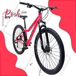 "Bicicleta TSW Posh 29"" Tam. 15,5 - Pink Fluor/Preto - 21"