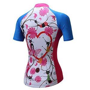 Camisa de Ciclismo WEIMOSTAR  Feminina - M Azul
