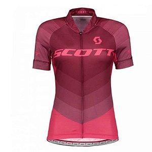 Camisa de Ciclismo SCOTT Feminina ROSA - TAM. M