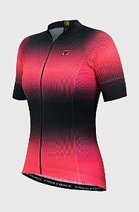 Camisa Ciclismo Feminina FREE FORCE Sport Star Preto/Coral M