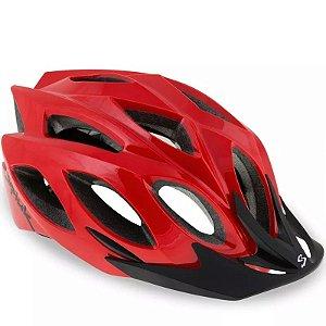 Capacete de Ciclismo SPIUK Rhombus Vermelho Tam. 58-62