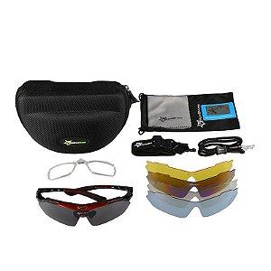 Óculos de Ciclismo ROCKBROS Preto - Kit com 5 Lentes
