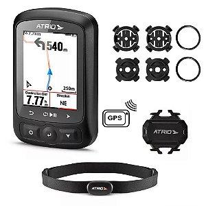 GPS de Ciclismo ATRIO Titanium com Cinta Cardiaca e Sensor de Cadência - BI155