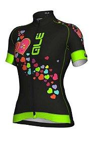 Camisa Ciclismo Feminina ALE Preto/Verde - TAM. G