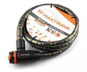 Cadeado Espiral MAXTRAVA com Chave 18x120cm - MXTRA0006