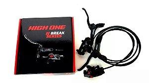 Freio a Disco Hidraulico HIGH ONE Dianteiro e Traseiro sem Disco - Preto