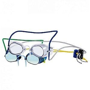 Kit de Óculos de Natação SPEEDO Competition Pack Azul Espelhado