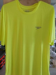 Camisa SPEEDO Basic Interlock UV50 Limonada - TAM. GG