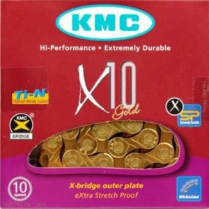 Corrente Kmc X10 Gold 11v 116 Link - acompanha link de emenda