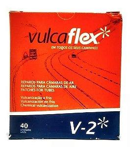 Remendo Black VULCAFLEX 50mm V2 - Caixa com 40 Unidades